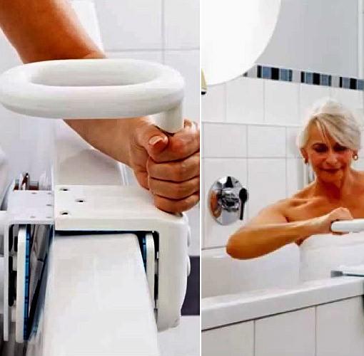 Maniglia per vasca hugo ideale per il bagno dei disabili - Vasca da bagno per disabili agevolazioni ...