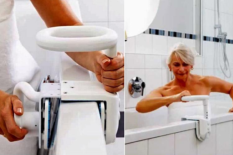 Maniglia per vasca hugo ideale per il bagno dei disabili - Supporto per vasca da bagno ...