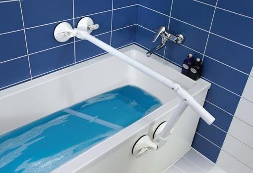Maniglioni per bagno componibili grazie all 39 attacco a ventosa - Maniglioni per disabili bagno ...