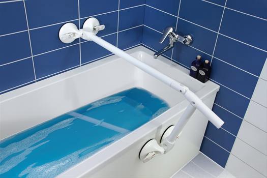 Maniglioni per bagno componibili grazie all attacco a ventosa