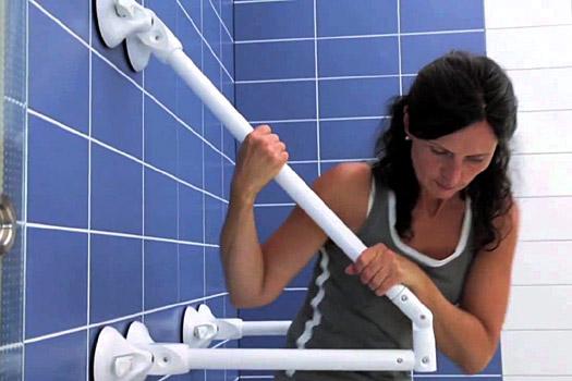 Accessori Bagno Disabili Maniglioni.Maniglioni Per Bagno Componibili Grazie All Attacco A Ventosa