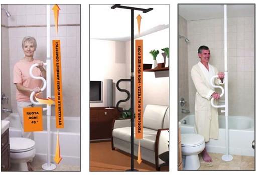 Favorisce la seduta pole supporto al soffitto e pavimento - Ausili per disabili bagno ...
