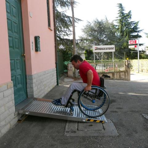 rampe uniche per soglie - particolare salita