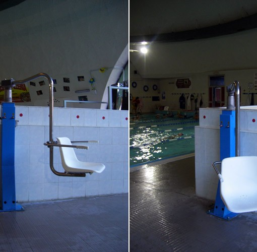 Sollevatore ad acqua soluzioni per vasche piscine senza - Sollevatore piscina per disabili ...