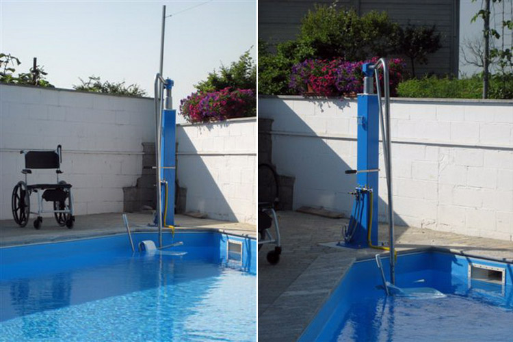 Sollevatori Mobili Per Piscina : Sollevatore ad acqua soluzioni per vasche piscine senza elettricità