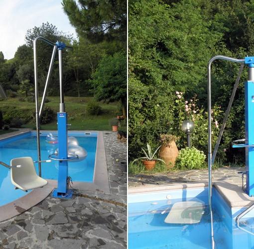 Sollevatore ad acqua soluzioni per vasche piscine senza for Acqua per piscine